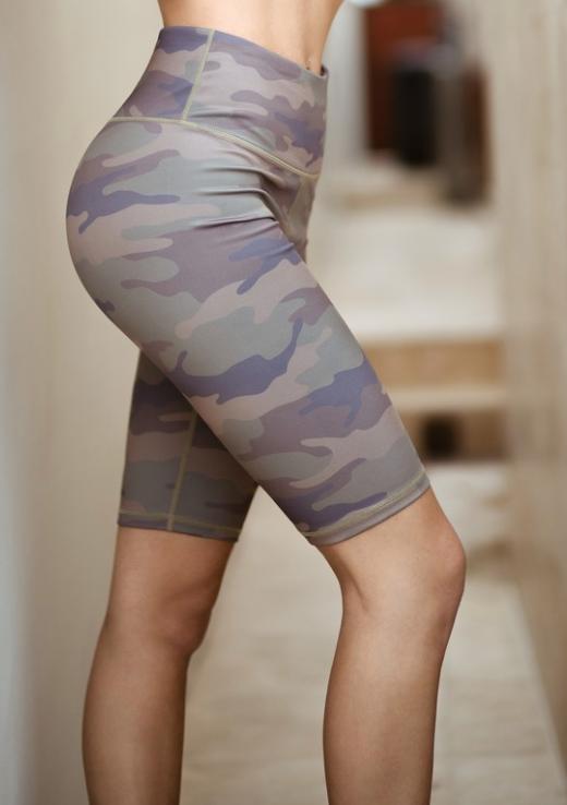 Yelete Camo Biker Shorts