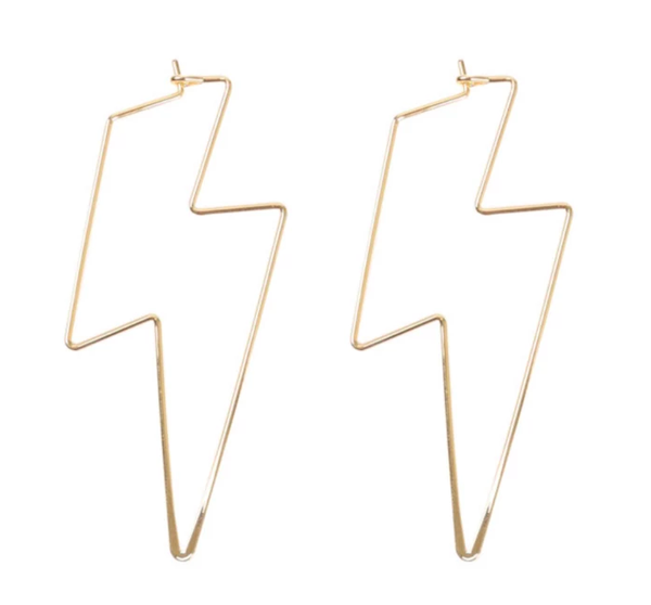 It's Electric Lightening Bolt Earring - Gold