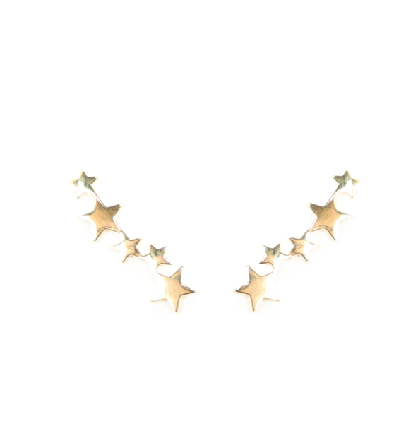 Star Climber Earrings - Gold