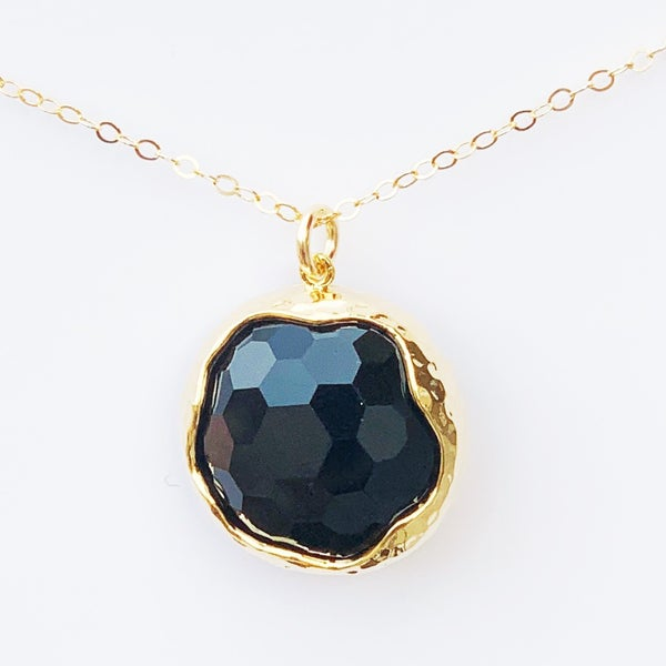 Onyx Shine Bright Gem Necklace