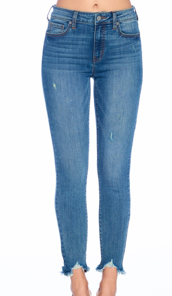 Do Your Thang High Rise Crop Skinny Jean