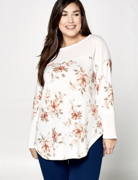 Bed Of Flowers Tunic Top