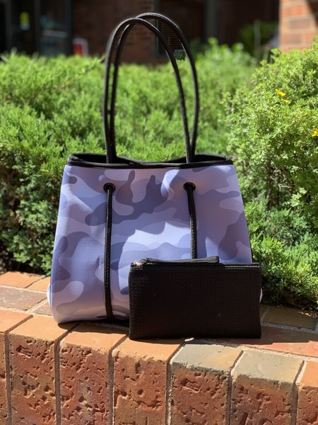 LILLY TOTE GREY CAMO