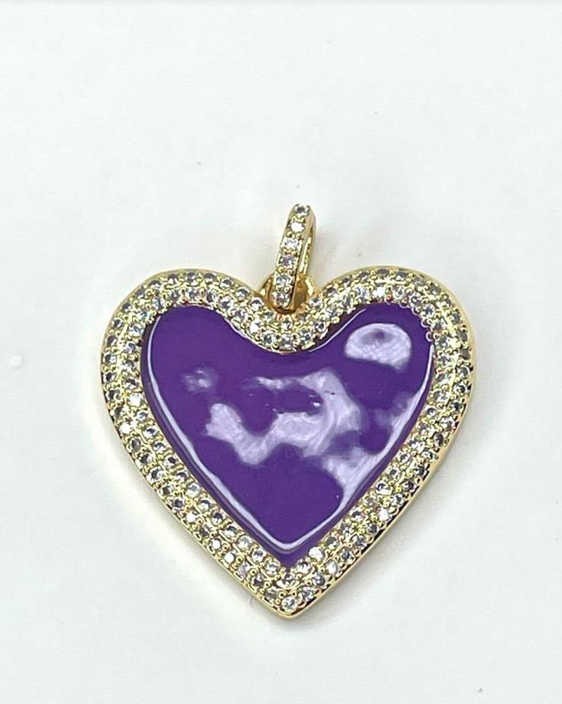 By Alexa Rae Enamel Heart Charm - 4 Colors!