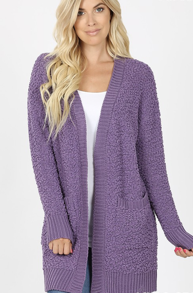 Sleepless In Seattle Popcorn Cardigan