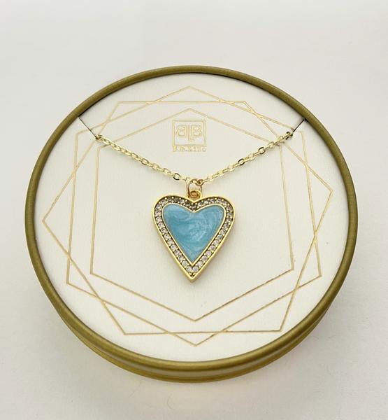 BB Lila My Blue Heart Necklace