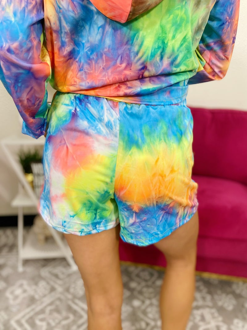 Chasing Neon Rainbow Shorts - 2 Colors!