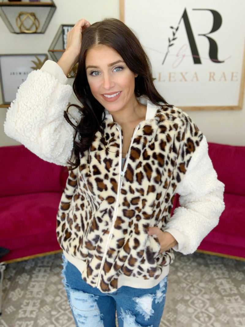 Snuggle Up Leopard jacket