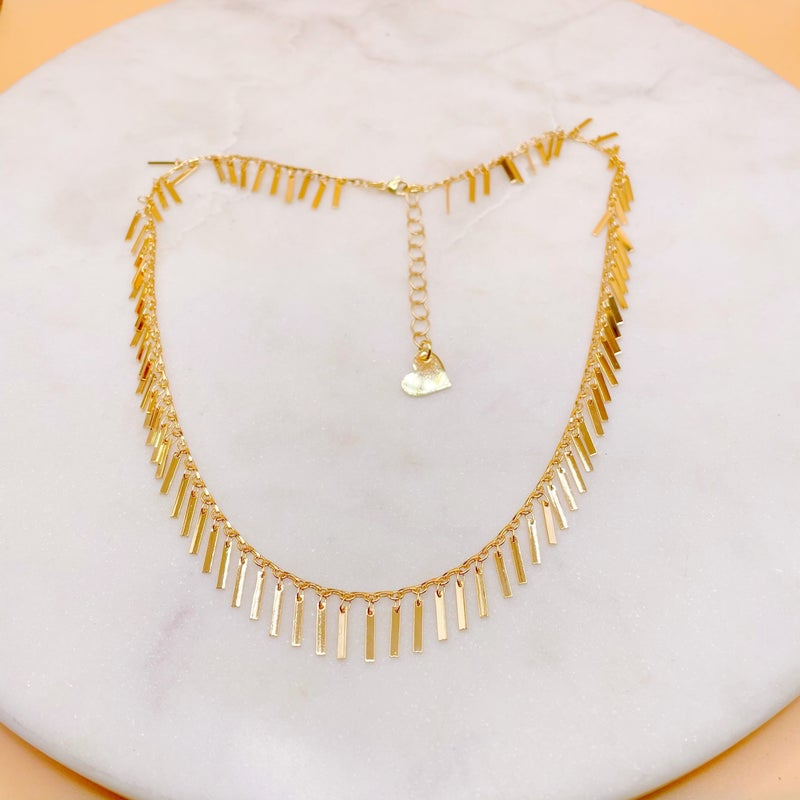 Hanging Bar Necklace - 2 Colors!
