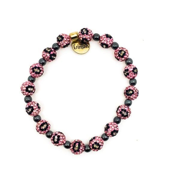 Erimish Pink Leopard Single Bracelet