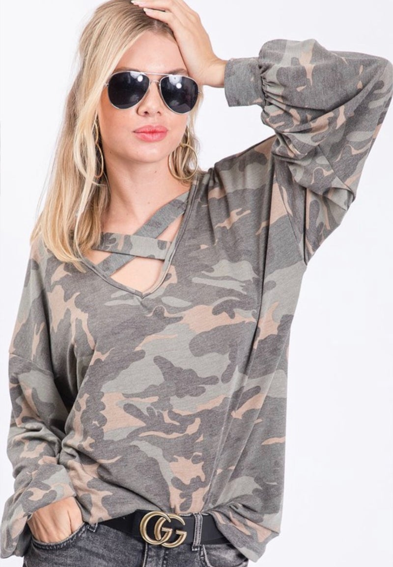 Finding My Way Camo Top