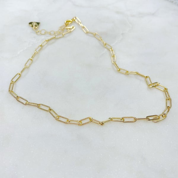 Love Poppy Gold Paperclip Chain