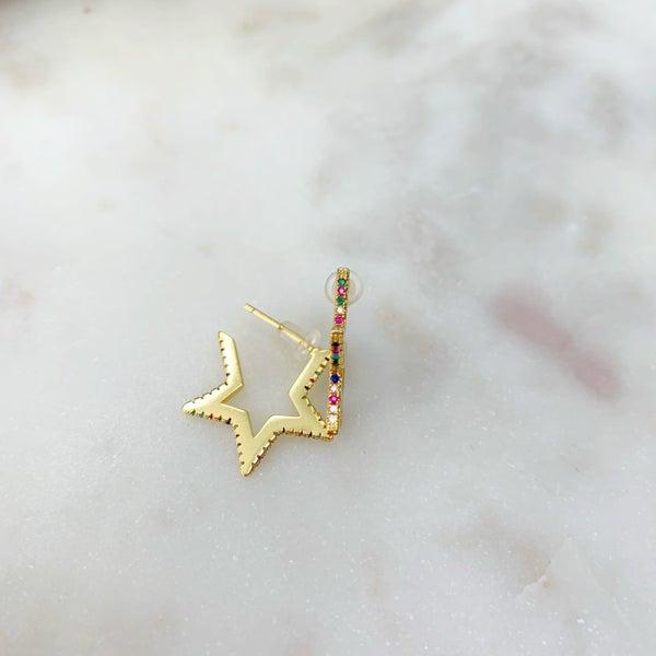 Love Poppy  Rockstar Huggie Earrings