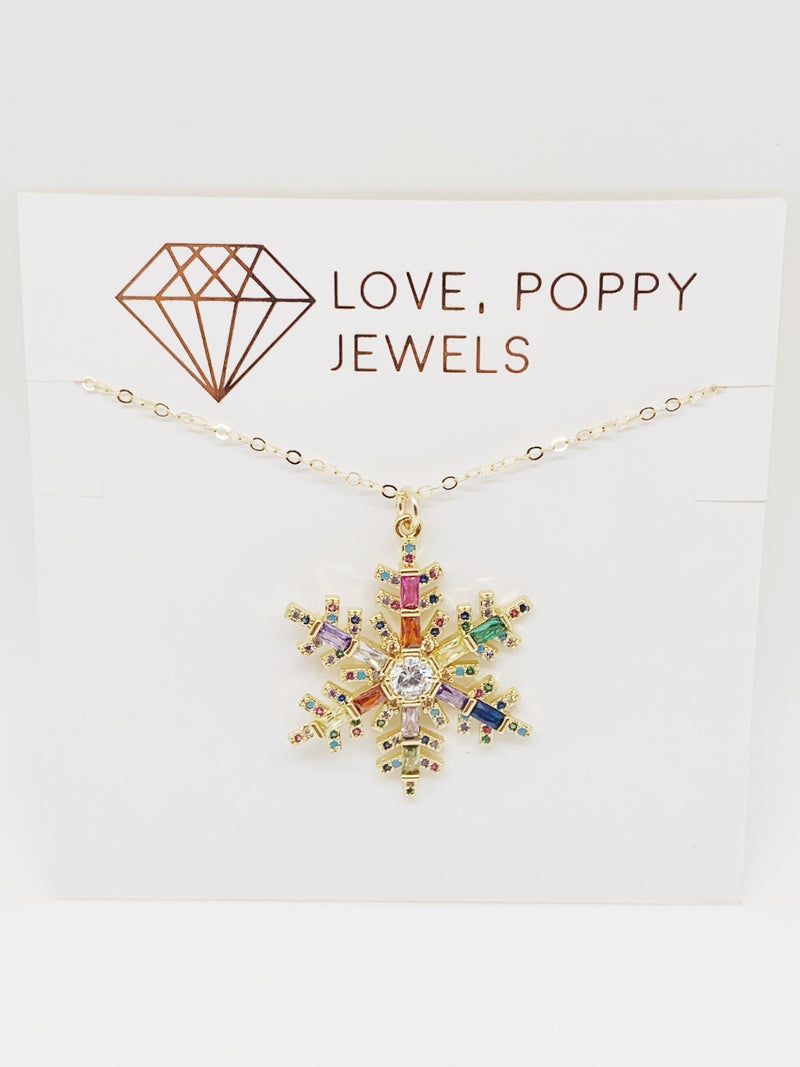 PRE-ORDER! Snowflake Charm Necklace