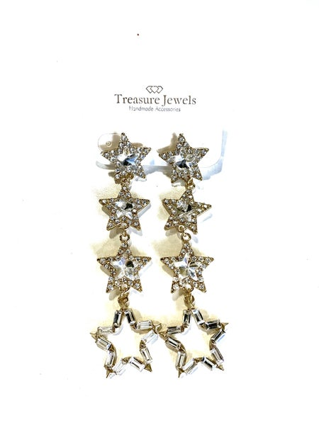 Treasure Jewels Multi Stars Earrings