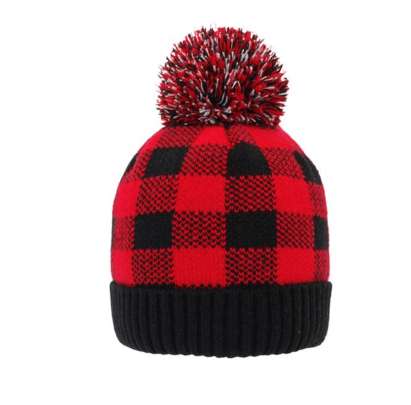 Pudu Red Buffalo Plaid Beanie - Adult