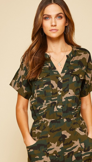 Weston Camo Jumpsuit