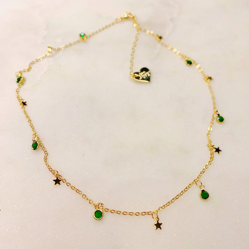 Love Poppy Stars and Gems Necklace