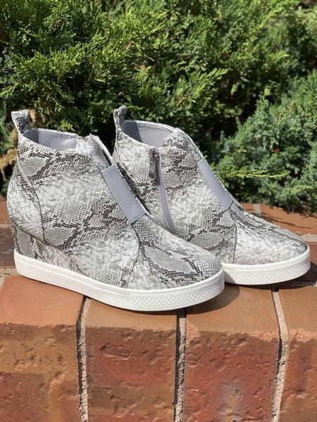Made For Walkin' Wedge Sneaker - Snake