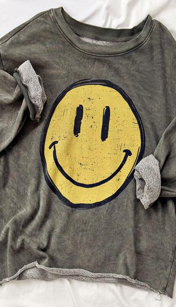 Happy Face Sweatshirt - 4 Colors!