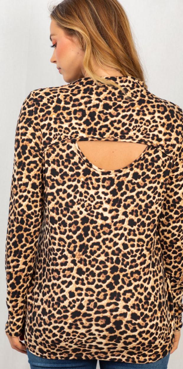 Leopard Peek A Boo Top