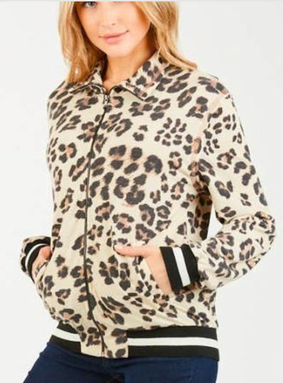 Lady Leopard Bomber Jacket