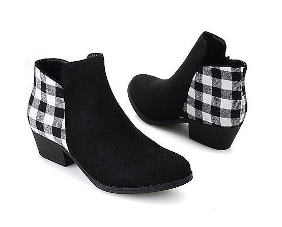 Corky's Prevail Plaid Booties- 2 Colors!