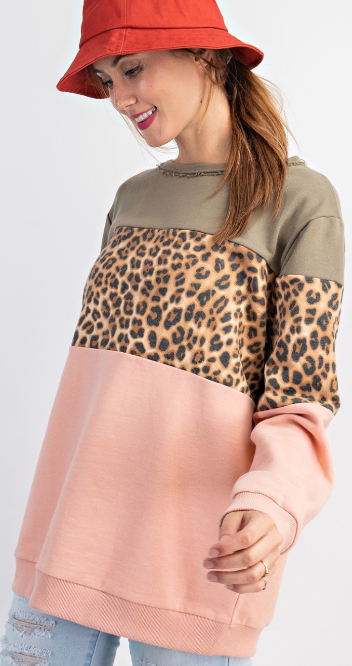 Cure All Leopard Pullover - 2 Colors!