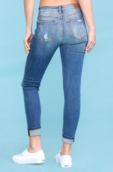 Judy Blue Workin' It Leopard Patch Skinny Jeans