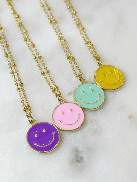 Smiley Necklace By Melania Clara - 4 Colors
