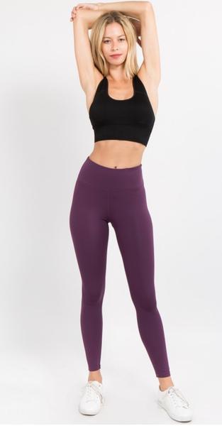 Yelete Purple Active Leggings