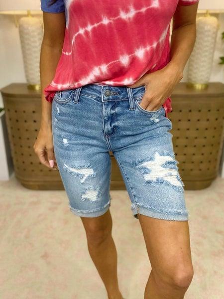Judy Blue All In Stride Denim Bermuda Shorts