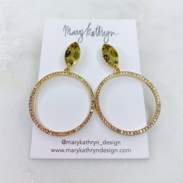Mary Kathryn Gold CZ Hoops