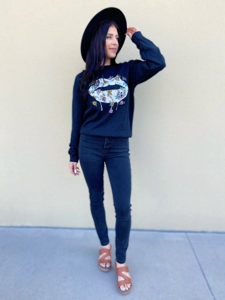 Drooling Floral Sweater - 3 Colors!