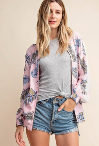 Vibin' To The Beach Bomber Jacket