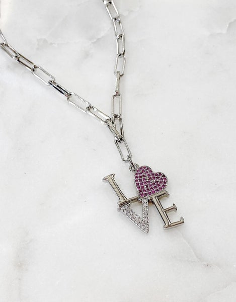 By Alexa Rae New York (LOVE) Necklace