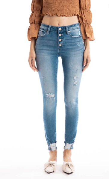Buck Up KanCan Distressed Skinny Jeans