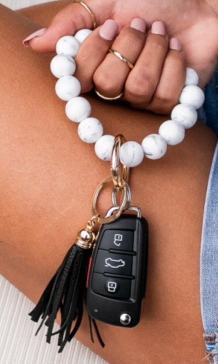 Harper Beaded Key Ring Bracelet - 6 Colors!