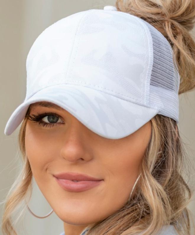 Camo Messy Bun Hat - 5 Colors!