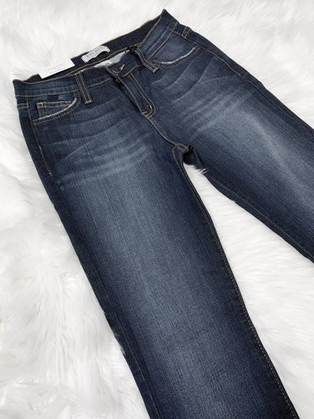 JUDY BLUE DARK WASH SKINNY WITH BROWN STITCH