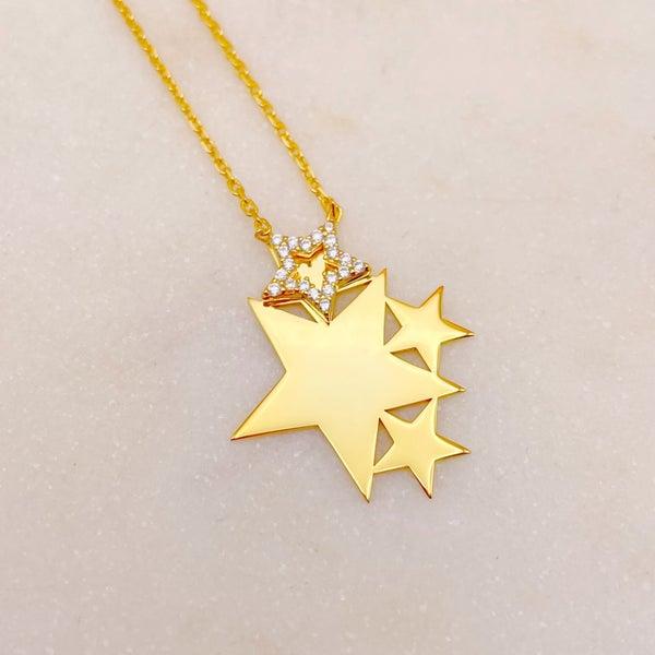 Comet Stars Necklace