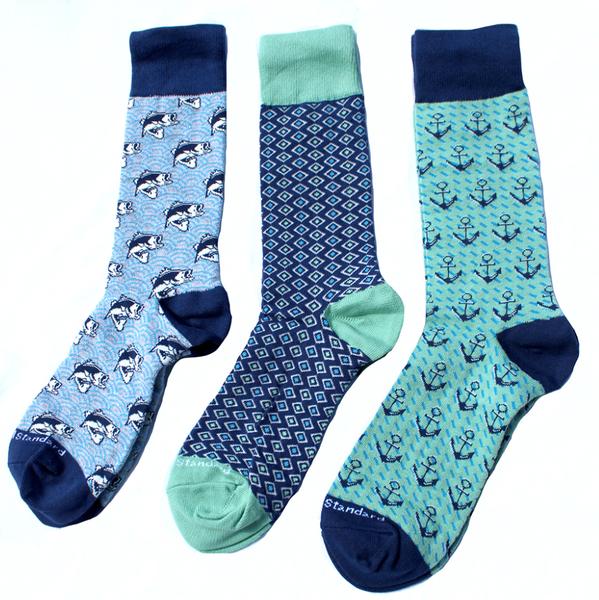 Gone Fishin' Mens Socks Gift Set
