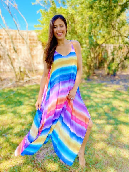 Rainbow Road Maxi Dress