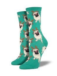 Antler Pug Socks