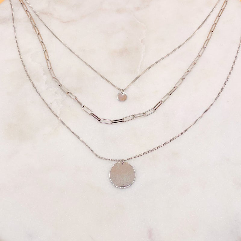 BB Lila Madeline Necklace - Silver