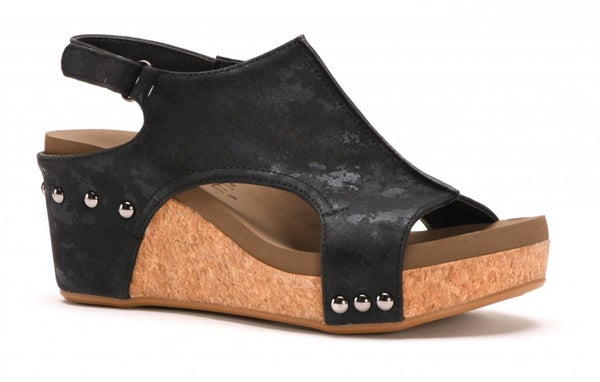 Corky's Carley Metallic Wedge- 3 Colors!