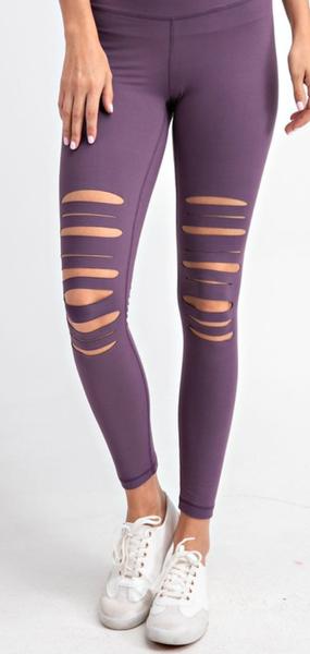 Tough Girl Leggings - Violet