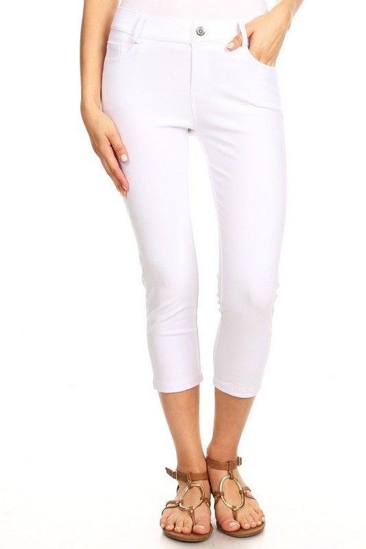 Perfect Pocket Skinny Capri Jeggings - 10 Colors!