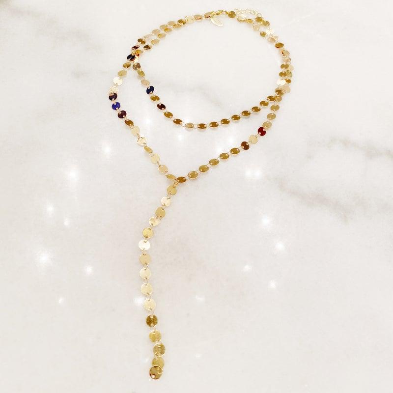 Double Disco Necklace