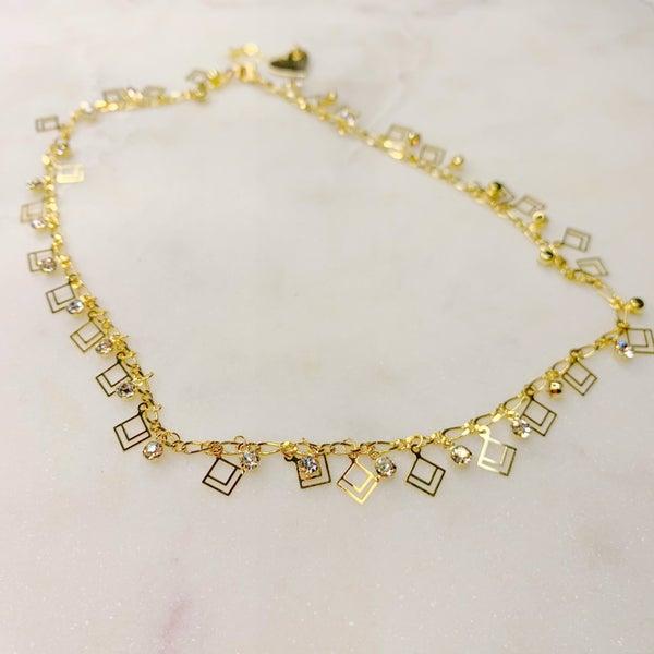 Love Poppy Hanging Diamond Necklace